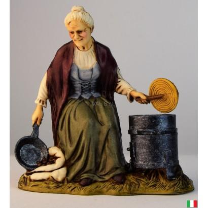 Donna castagnara Landi cm. 12