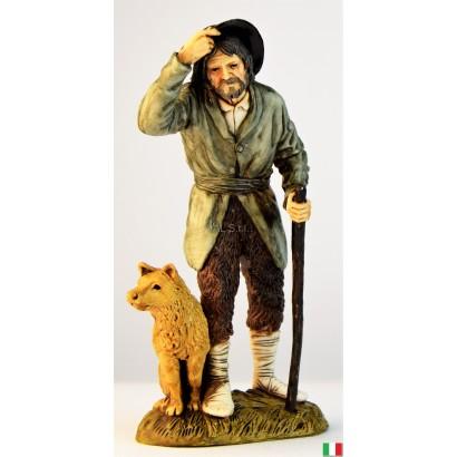 Uomo pastore con cane Landi...