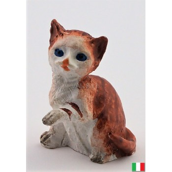 Gatto seduto in terracotta cm. 3,5