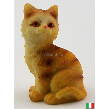 Gatto seduto in terracotta cm. 3