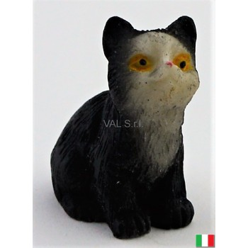 Gatto seduto in terracotta cm. 2