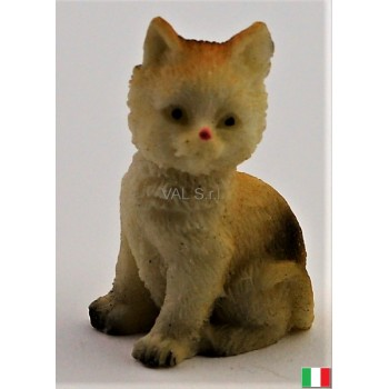 Gatto seduto in terracotta...