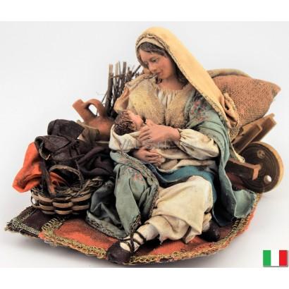 Maria sdraiata con Gesù...