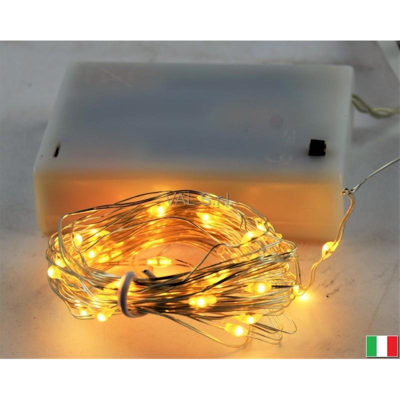 Luci led a batteria mt 4 20 bianca calda illuminazione for Luci led piccole