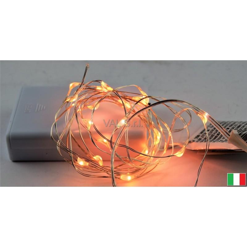 Luci led a batteria mt 2 20 bianca calda illuminazione for Luci led piccole