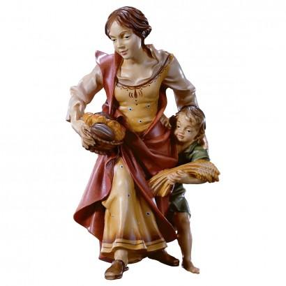 Contadina con bambino