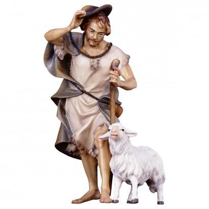 Pastore con bastone e pecora