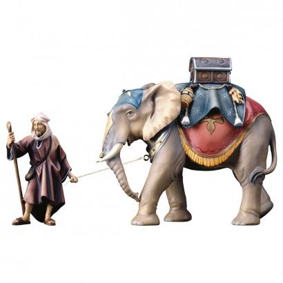 Gruppo elefante con sella bagagli