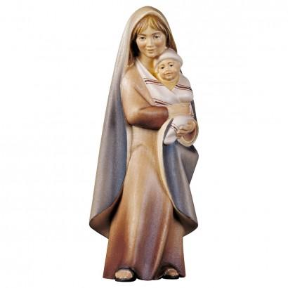 Contadina con neonato