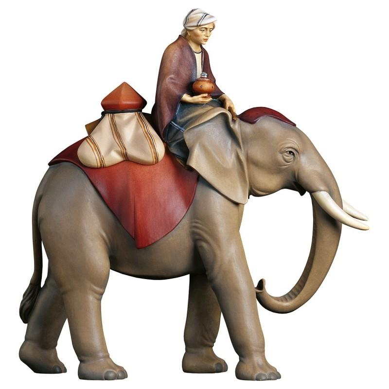 Gruppo elefante con sella di gioielli