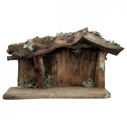 Capanna per presepe in legno