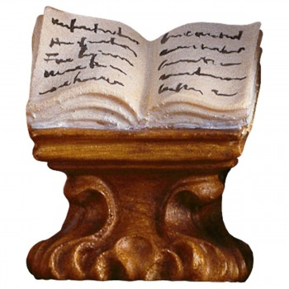 Libro su mensola in legno