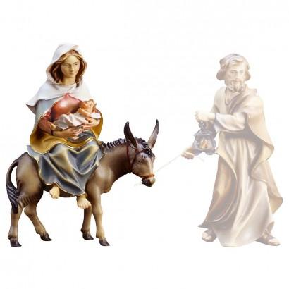 S. Maria su asino con Gesù...