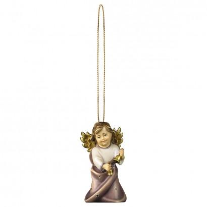 Angelo Cuore con campenelle con filo oro