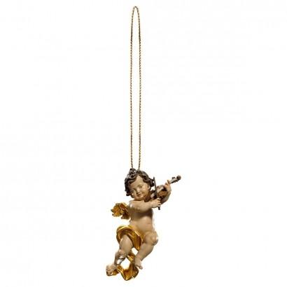 Putto con violino con filo oro