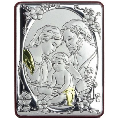 Quadro in alluminio 7x5 con Sacra Famiglia