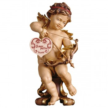 Putto Cupido su piedistallo