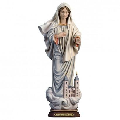 Madonna di Medjugorje con chiesa