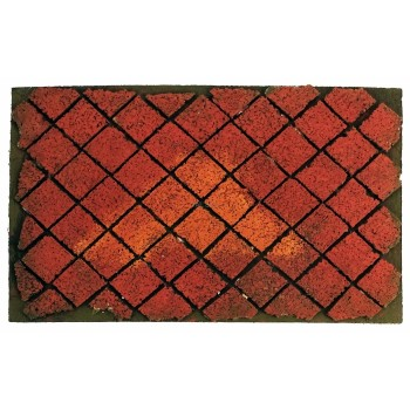 Base mattonata rossa per presepe 30x20
