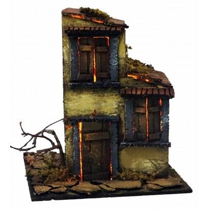 Casa con luce stile 700, cm. 20 x cm. 24 x cm. 23h