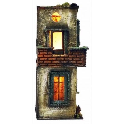 Casa con luce stile 700, cm. 15 x cm. 13 x cm. 33h