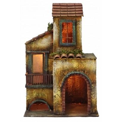 Casa doppia con luce, stile 700 cm. 26 x cm. 17 x cm. 41h