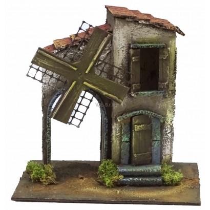 Mulino a vento con casa