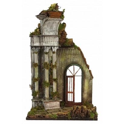 Tempio con tre colonne, arco, luce