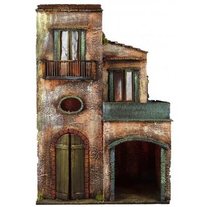 Casa grande doppia su due livelli con luce. Cm. 40 x cm. 20 x cm. 63 h