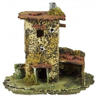 Casa con pollaio cm. 18 x cm. 12 x cm. 13h