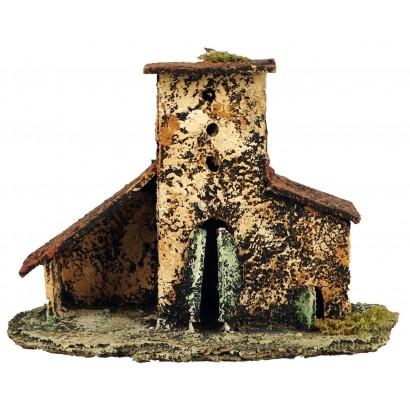 Casa con stalla laterale cm 19 x cm. 10 x cm. 13h