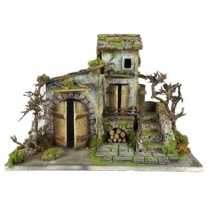 Casa doppia con scala laterale cm 44 x cm 30 x cm 32h