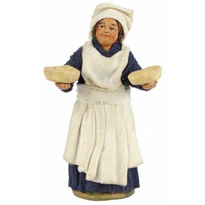 Cameriera in terracotta cm. 10