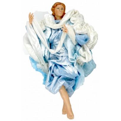 Angelo celeste terracotta vestita cm 30