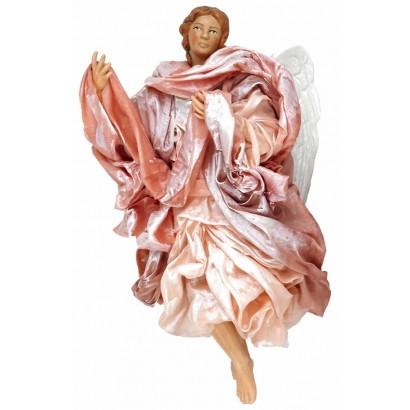 Angelo rosa terracotta vestita cm 30