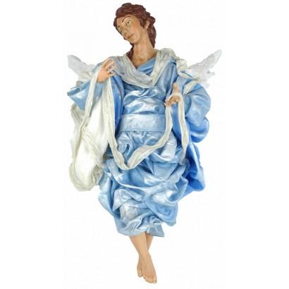Angelo celeste terracotta vestita cm 45