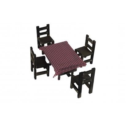 Tavolo 7x5x4 con 4 sedie