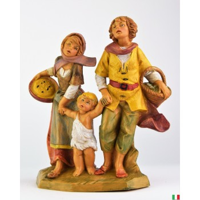 tre bambini Fontanini cm .12