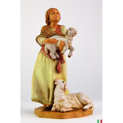Ragazza con pecore...