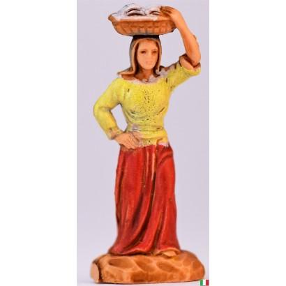 Donna con cesto in testa Landi cm 3,5
