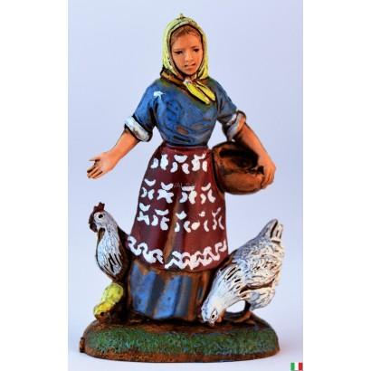 Donna con polli Landi cm. 6