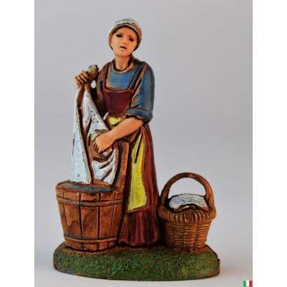 Donna che lava i panni Landi cm. 6