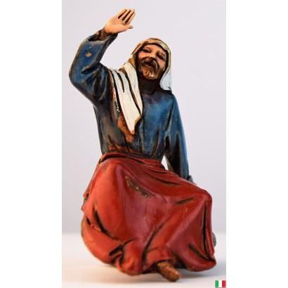 Uomo arabo seduto Landi cm. 10
