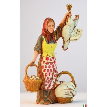 Donna venditrice di polli...