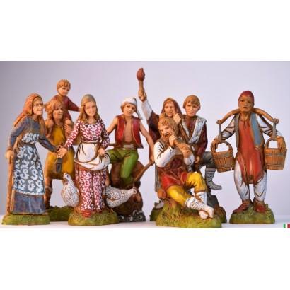 Set di 8 personaggi assortiti landi cm. 10