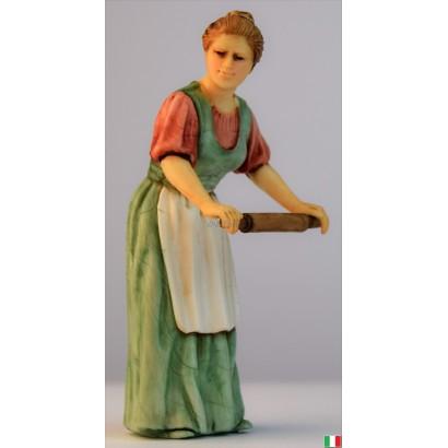 Donna con mattarello Landi cm. 10