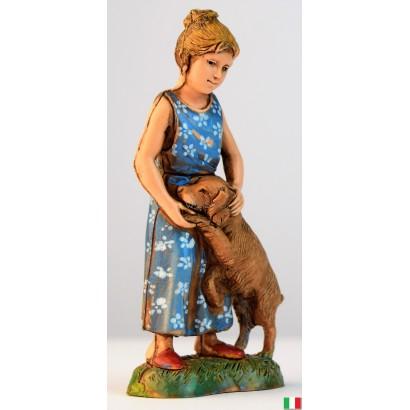 Bimba con cane Landi cm. 10