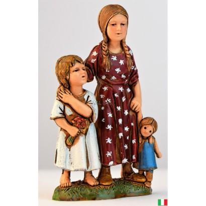 Bambini in piedi Landi cm. 10