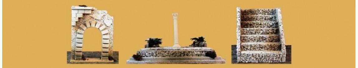 Colonne, Capitelli, Muri e Scale per il Presepe - PresepeePresepi.com